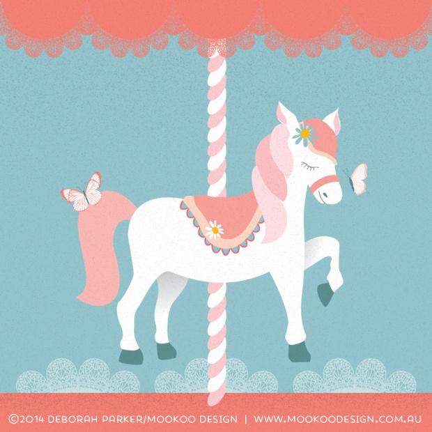 Week 17: Horse. Digital illustration in Adobe Illustrator.
