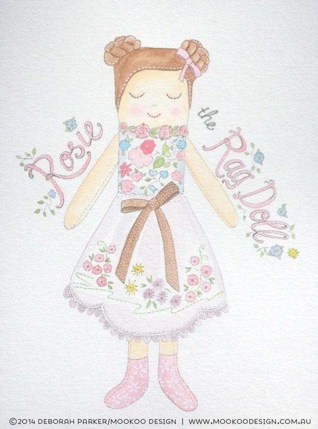 Week 33: Toy. Fineliner & watercolour.